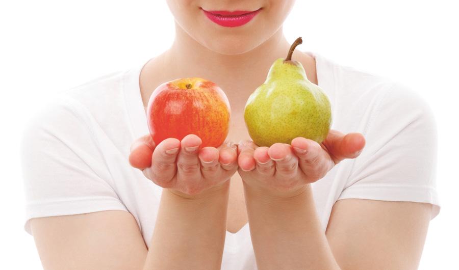 Äpple och päron - risken för stroke minskar med högt intag
