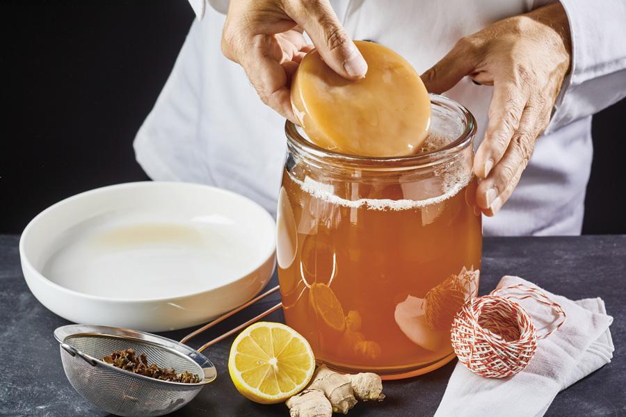 Kombucha - fermenterad dryck - bra för hälsan
