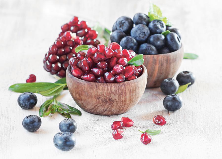 Granatäpple och blåbär - kombinera för hälsosam och föryngrande effekt
